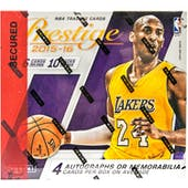 2015/16 Panini Prestige Plus Basketball Hobby Box
