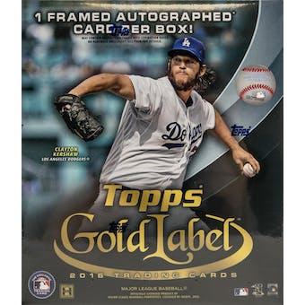 2016 Topps Gold Label Baseball Hobby Box