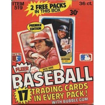 1981 Fleer Baseball Wax Box