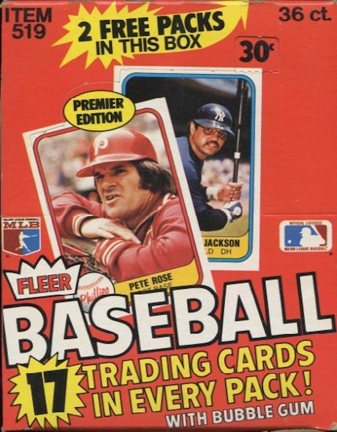 1981 Fleer Baseball Wax Box Da Card World