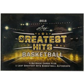 2015/16 Leaf Greatest Hits Basketball Hobby Box