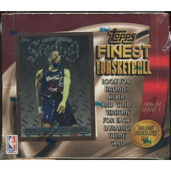 1996/97 Topps Finest Series 1 Basketball Retail 20 Pack Box