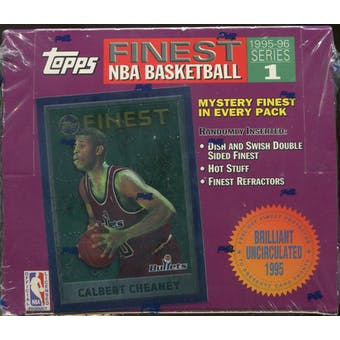 1995/96 Topps Finest Series 1 Basketball Retail 20 Pack Box