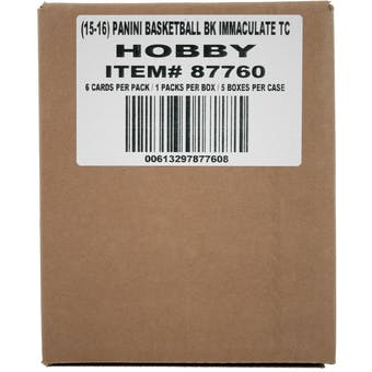 2015/16 Panini Immaculate Basketball Hobby 5-Box Case