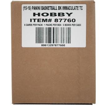 2015/16 Panini Immaculate Basketball Hobby 5-Box Case