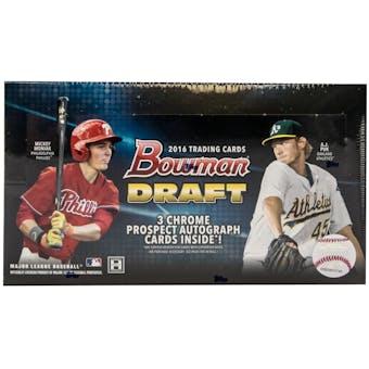 2016 Bowman Draft Baseball Hobby Jumbo Box