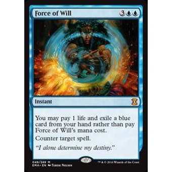 Magic the Gathering Eternal Masters Single Force of Will NEAR MINT (NM)
