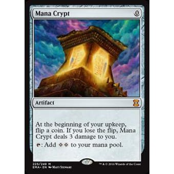 Magic the Gathering Eternal Masters Single Mana Crypt Foil NEAR MINT (NM)