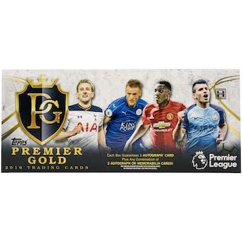 2016 Topps Premier League Gold Soccer Hobby Box