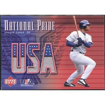 2003 Upper Deck National Pride Memorabilia #JJ0 Jacque Jones White Jersey