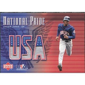 2003 Upper Deck National Pride Memorabilia #JJ1 Jacque Jones Blue SP Jersey /250