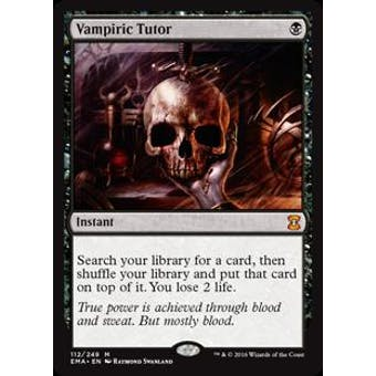 Magic the Gathering Eternal Masters Single Vampiric Tutor NEAR MINT (NM)