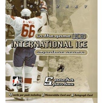 2006/07 ITG International Ice Signature Series Hockey Hobby Box