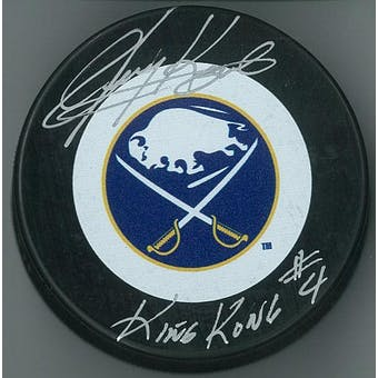 Jerry Korab Autographed Buffalo Sabres Hockey Puck