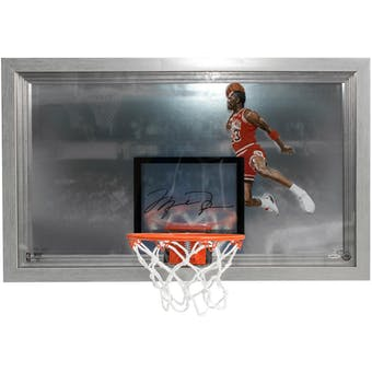 Michael Jordan Autographed Chicago Bulls Mini Backboard UDA
