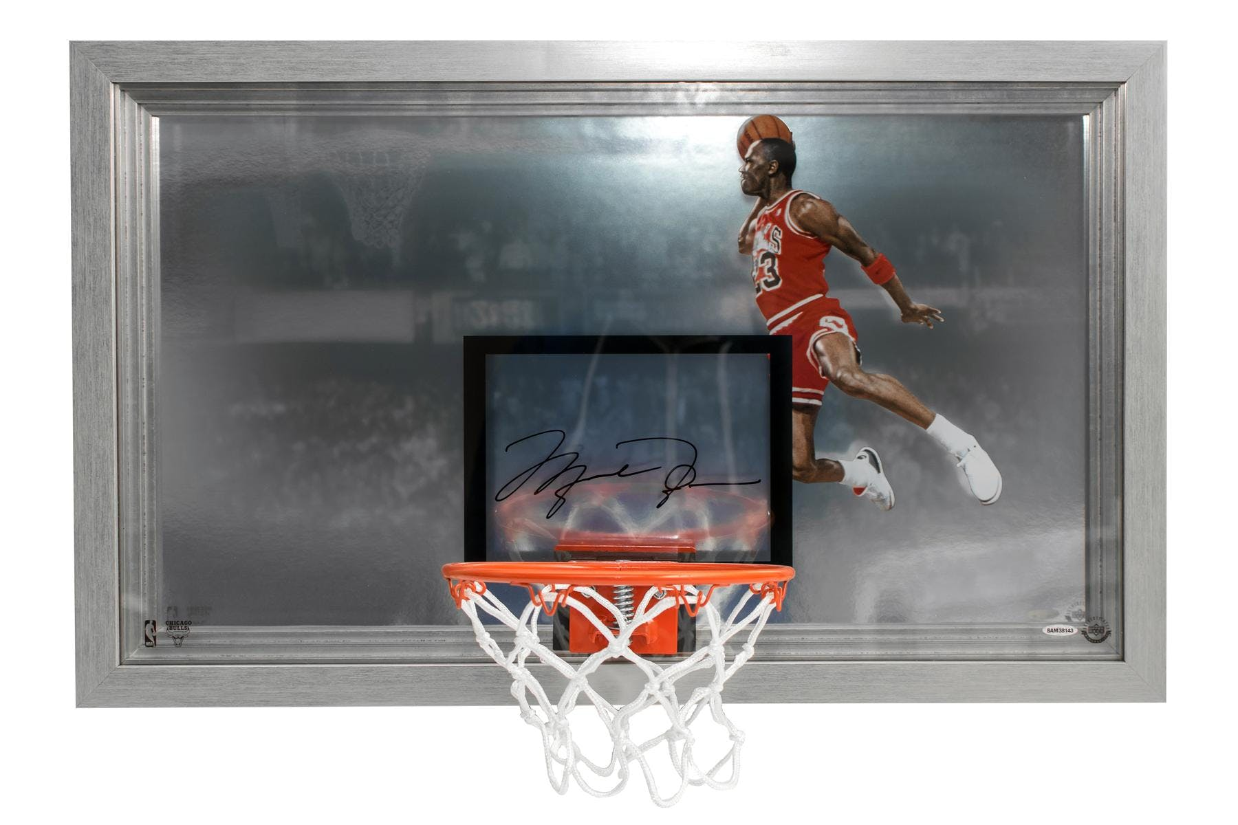 lowest price 9823b 88c35 Michael Jordan Autographed Chicago Bulls Mini Backboard UDA