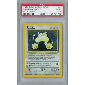 Pokemon Jungle No Set Symbol Error Snorlax 11/64 PSA 9