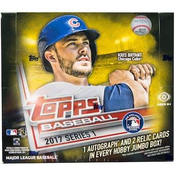2017 Topps Series 1 Baseball Hobby Jumbo Box