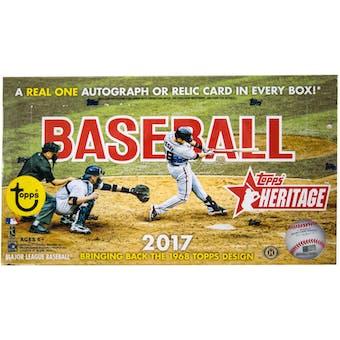 2017 Topps Heritage Baseball Hobby Box
