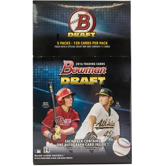 2016 Bowman Draft Baseball SUPER Jumbo Box