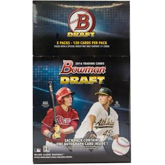 2016 Bowman Draft Baseball SUPER Jumbo Box