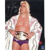 Ric Flair Autographed White Robe 8x10 Wrestling Photo
