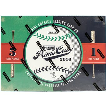 2016 Panini Prime Cuts Baseball Hobby Box