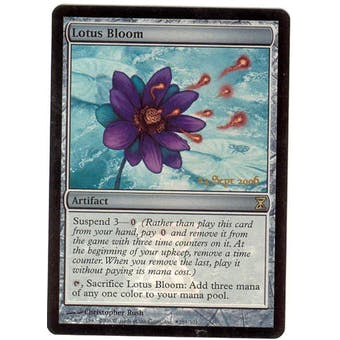 Magic the Gathering Time Spiral Single Lotus Bloom Foil (Prerelease) - NEAR MINT (NM)