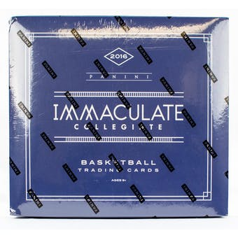 2016/17 Panini Immaculate Collection Collegiate Basketball Hobby Box