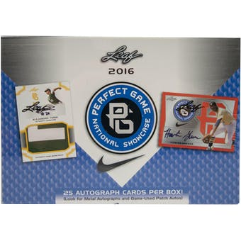 2016 Leaf Perfect Game National Showcase Baseball Hobby Box