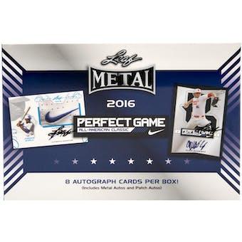 2016 Leaf Metal Perfect Game All-American Classic Baseball Hobby Box