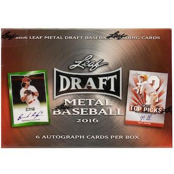 2016 Leaf Metal Draft Baseball Hobby Box