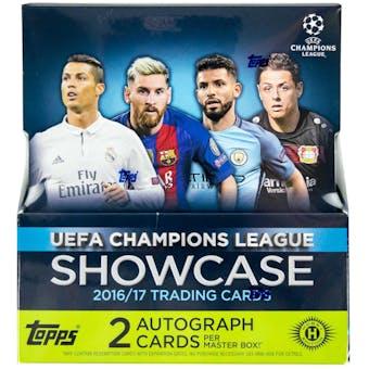 2016/17 Topps UEFA Champions League Showcase Soccer Hobby Box