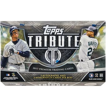 2017 Topps Tribute Baseball Hobby Box