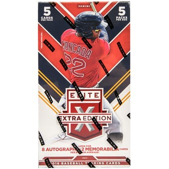2016 Panini Elite Extra Edition Baseball Hobby Box