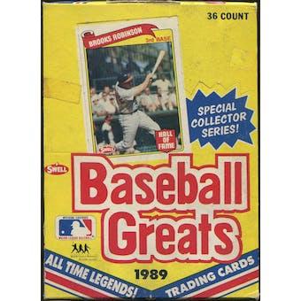 1989 Swell Baseball Greats Baseball Wax Box