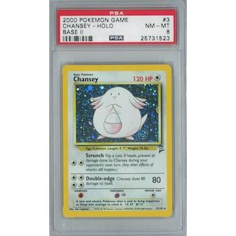 Pokemon Base Set 2 Chansey 3/130 PSA 8