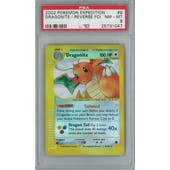 Pokemon Expedition Dragonite 9/165 Reverse foil Single PSA 8