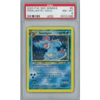 Pokemon Neo Genesis Feraligatr 5/111 PSA 8