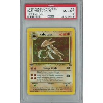 Pokemon Fossil 1st Edition Kabutops 9/62 PSA 8
