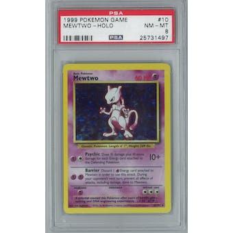 Pokemon Base Set Unlimited Mewtwo 10/102 PSA 8