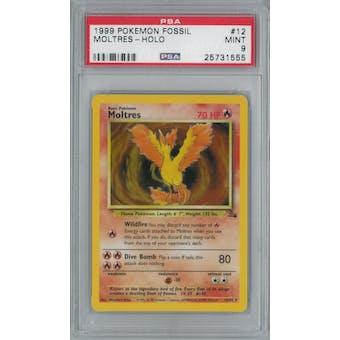 Pokemon Fossil Moltres 12/62 PSA 9