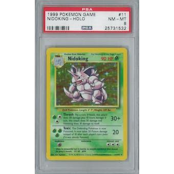 Pokemon Base Set Unlimited Nidoking 11/102 PSA 8