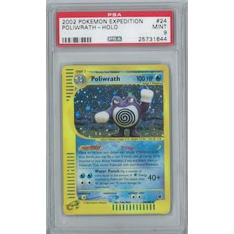 Pokemon Expedition Poliwrath 24/165 Single PSA 9