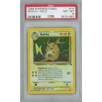 Pokemon Fossil Raichu 14/62 PSA 8