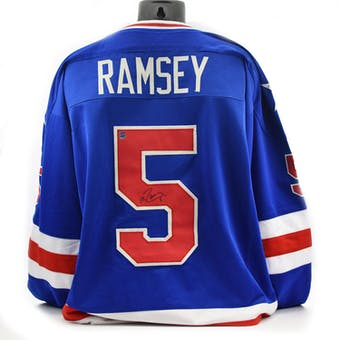 Mike Ramsey Autographed USA Miracle on Ice Blue Jersey (DACW COA)