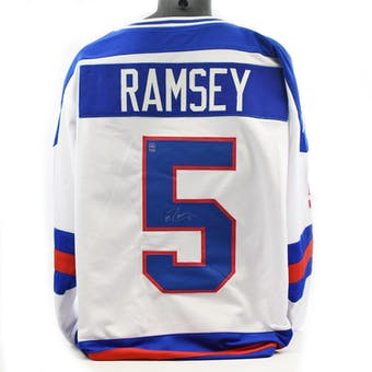 Mike Ramsey Autographed USA Miracle on Ice White Jersey (DACW COA)