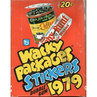 Wacky Packages Stickers 1st Series Wax Box (1979 Topps)