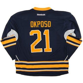 Kyle Okposo Autographed Buffalo Sabres Blue Hockey Jersey