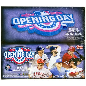 2017 Topps Opening Day Baseball Hobby Box